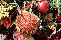 La Navidad y Años Nuevos de decoración Imágenes de archivo libres de regalías