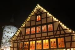 La Navidad y Años Nuevos de escena Imagenes de archivo