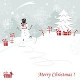 La Navidad y Años Nuevos de tarjeta de felicitación Imagen de archivo libre de regalías