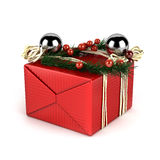 La Navidad y caja de regalo birhday/  Foto de archivo