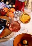 La Navidad y cena del Año Nuevo Imagen de archivo libre de regalías