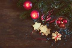 La Navidad y composición de NY en fondo oscuro Foto de archivo
