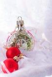 La Navidad y composición del invierno del Año Nuevo Imagen de archivo libre de regalías