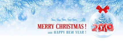 La Navidad y cubierta de Facebook del Año Nuevo fotografía de archivo libre de regalías