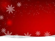 La Navidad y el Año Nuevo vector el fondo con los copos de nieve y las estrellas ilustración del vector