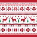 La Navidad y el invierno hicieron punto el modelo inconsútil o c Imagen de archivo libre de regalías