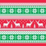 La Navidad y el invierno hicieron punto el modelo, tarjeta - estilo scandynavian del suéter Foto de archivo