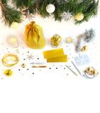 La Navidad y espacio de trabajo creativo del Año Nuevo Imágenes de archivo libres de regalías