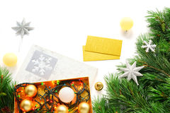 La Navidad y espacio de trabajo creativo del Año Nuevo Imagenes de archivo