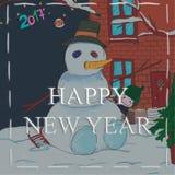 La Navidad y Feliz Año Nuevo ilustración del vector