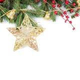 La Navidad y frontera del Año Nuevo Fotos de archivo libres de regalías