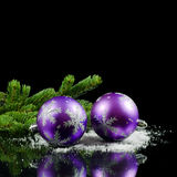La Navidad y frontera del Año Nuevo Imágenes de archivo libres de regalías