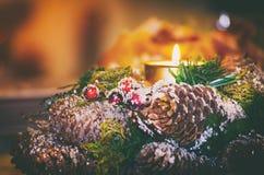 La Navidad y guirnalda del Año Nuevo Fotos de archivo libres de regalías