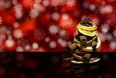 La Navidad y las naranjas secas del ` s del Año Nuevo da fruto Fotografía de archivo