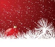 La Navidad y nieve Fotos de archivo libres de regalías