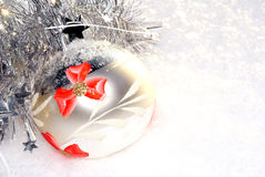La Navidad y nieve Foto de archivo