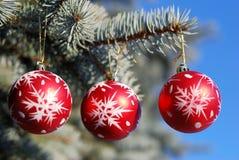 La Navidad y ornamento del Año Nuevo Imagenes de archivo