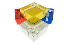 La Navidad y sistema importante de la caja de regalo del festival Imagen de archivo