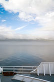 La nebbia arriva a fiumi il Canada dentro il traghetto della nave passeggeri del passaggio Fotografia Stock Libera da Diritti