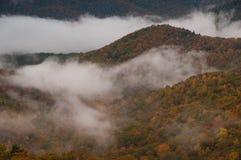 La nebbia entra Immagini Stock