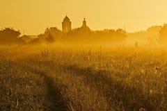La nebbia gialla. Immagini Stock