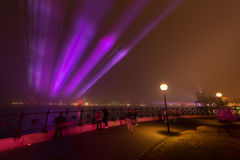 La nebbia protegge Quay circolare a Sydney. Immagini Stock