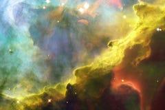 La nebulosa de Omega o nebulosa del cisne en espacio exterior stock de ilustración