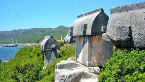 La necrópolis antigua de Lycian almacen de video