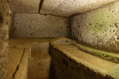 La necrópolis de Etruscan de Cerveteri Imagen de archivo libre de regalías