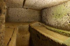 La necropoli etrusca di Cerveteri Immagine Stock Libera da Diritti