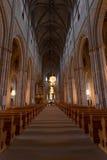 La nef de la cathédrale d'Upsal Images libres de droits