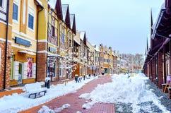 La neige à Kiev photographie stock