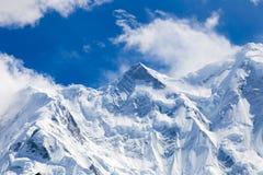 La neige a couvert des montagnes Photos libres de droits