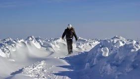 La neige a couvert des routes Photographie stock libre de droits