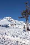 La neige a couvert la montagne image stock