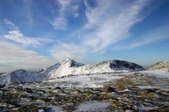 La neige a couvert le sommet Photos libres de droits