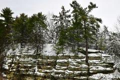 La neige a couvert les formations #2 de grès photos libres de droits