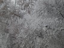 La neige de texture est tombée sur la rue blanche images libres de droits