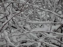 La neige de texture est tombée sur la rue blanche photo libre de droits