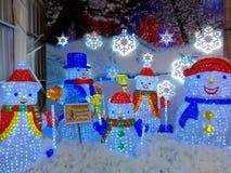 La neige de ville du monde de glace joue la lumière de W Photographie stock libre de droits