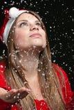 La neige en baisse Image libre de droits