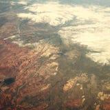 La neige rencontre des canyons Photo libre de droits