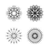 La neige s'écaille collection noire et blanche Illustration Libre de Droits