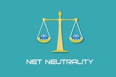 La neutralità netta libera l'accesso Internet Immagini Stock