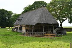 La Neuville Chant d Oisel, France - june 22 2016 : old farm in t. La Neuville Chant d Oisel, France - june 22 2016 : an old farm in the countryside Royalty Free Stock Photos