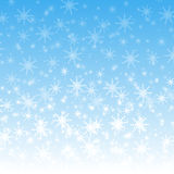 la neve bianca vola Fotografia Stock Libera da Diritti