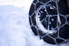 La neve delle catene Immagini Stock