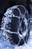 La neve delle catene Fotografia Stock