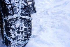 La neve delle catene Immagine Stock