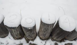 La neve di 2014 Fotografie Stock Libere da Diritti